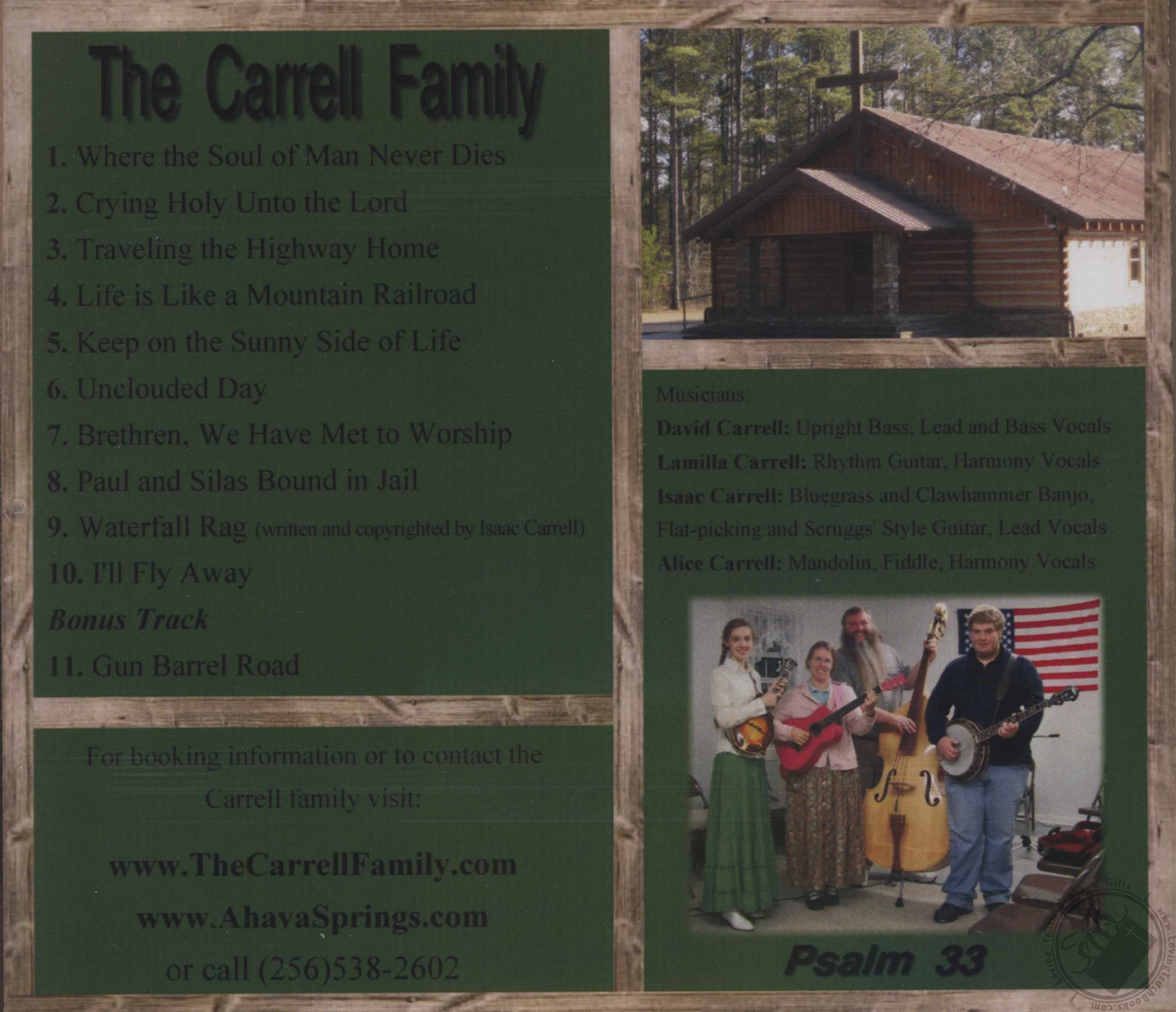 1st Sunday Singing By Carrell Family Cd Audio Loving Truth Books Amp Gifts