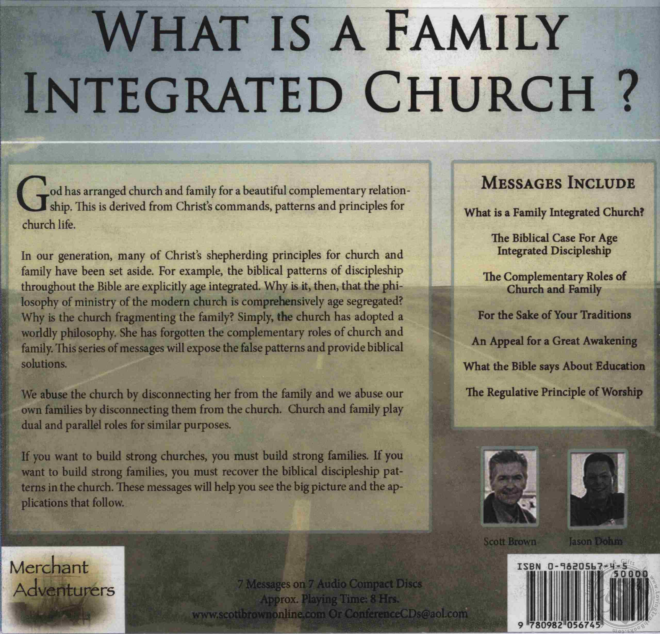 What is a Family Integrated Church? by Scott Brown, Jason