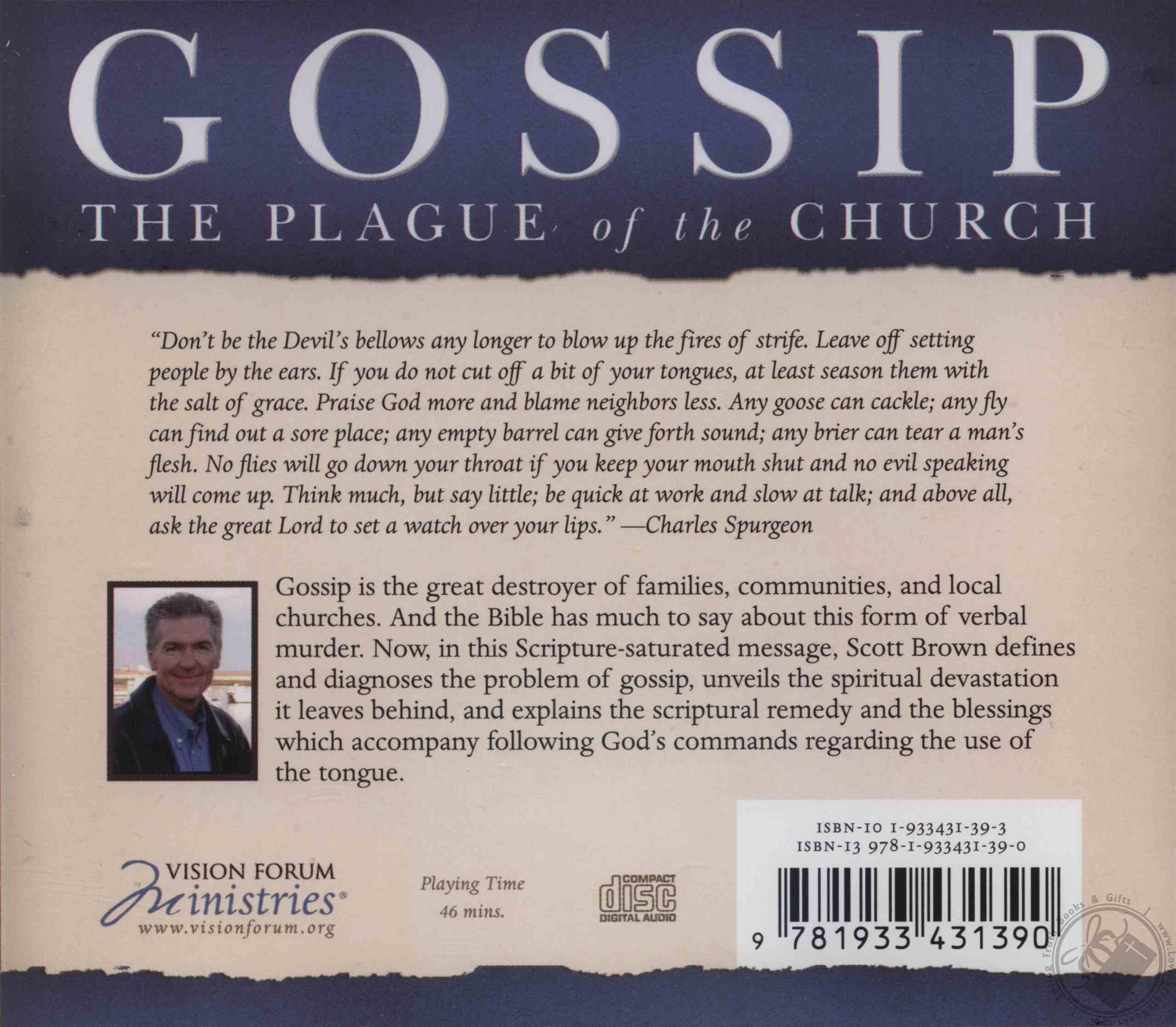 Gossip: The Plague of the Church by Scott Brown (CD / Audio