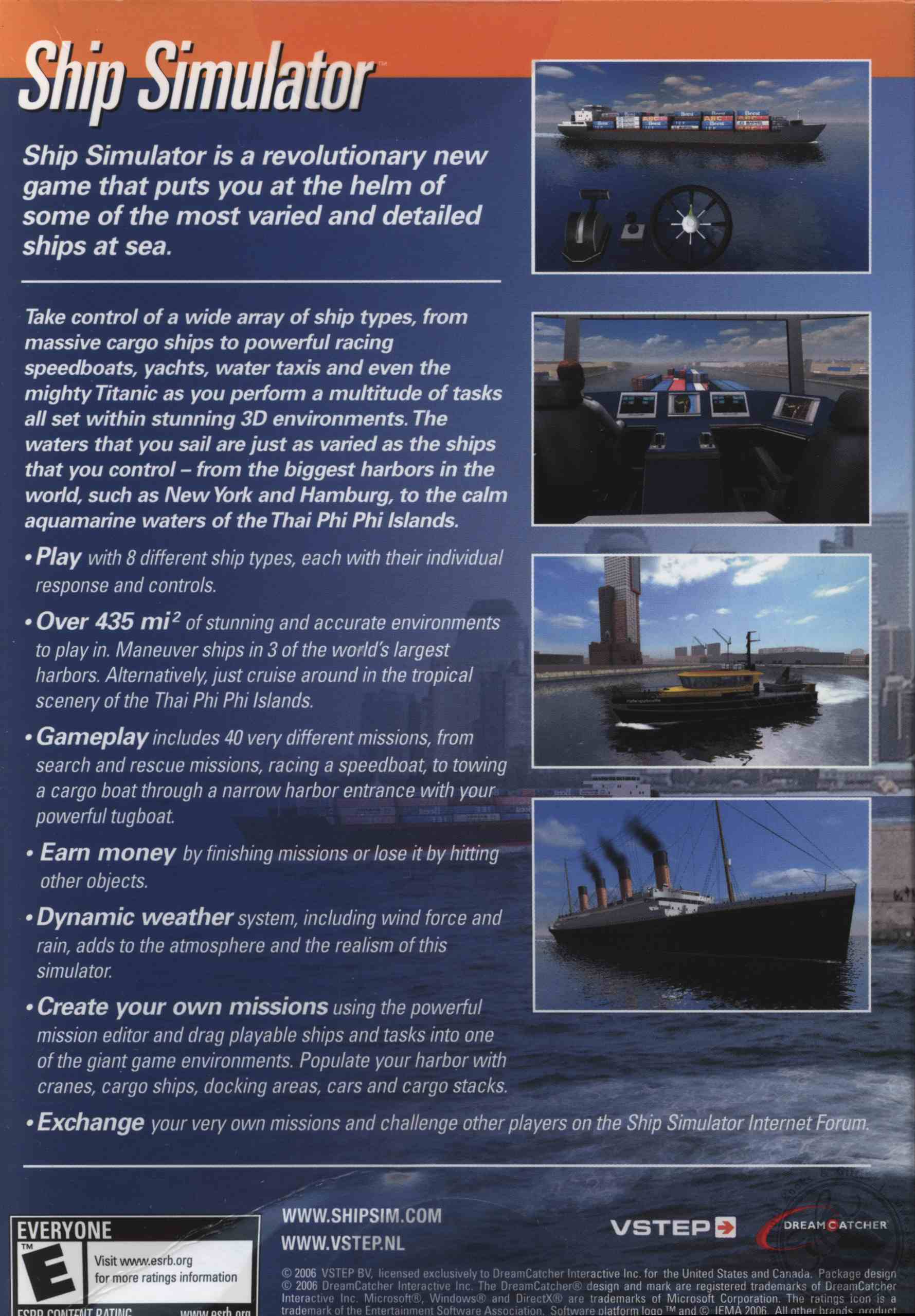 Ship Simulator (Windows 2000 / 98 / Me / XP) by Dreamcatcher
