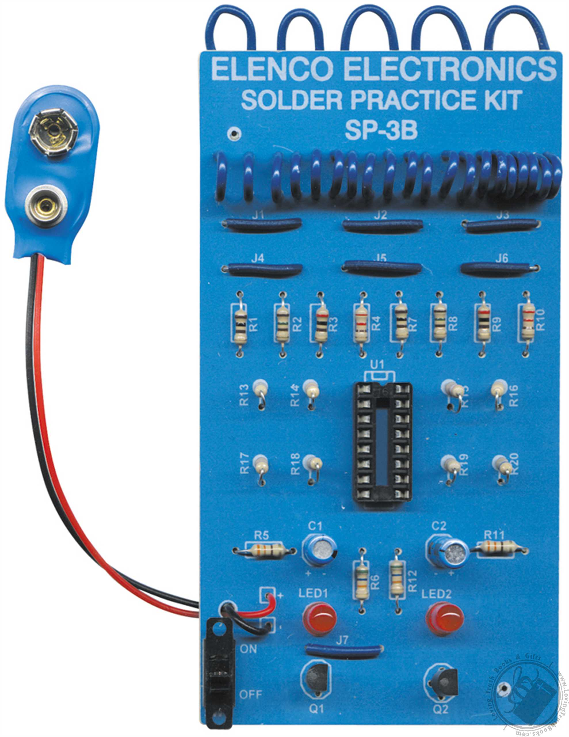 Electronic Education Kit For Novice Builders Of Technology Auto Whizzkits Breadboard Electronics Beginners Project Starter Elenco Solder Practice Model Sp