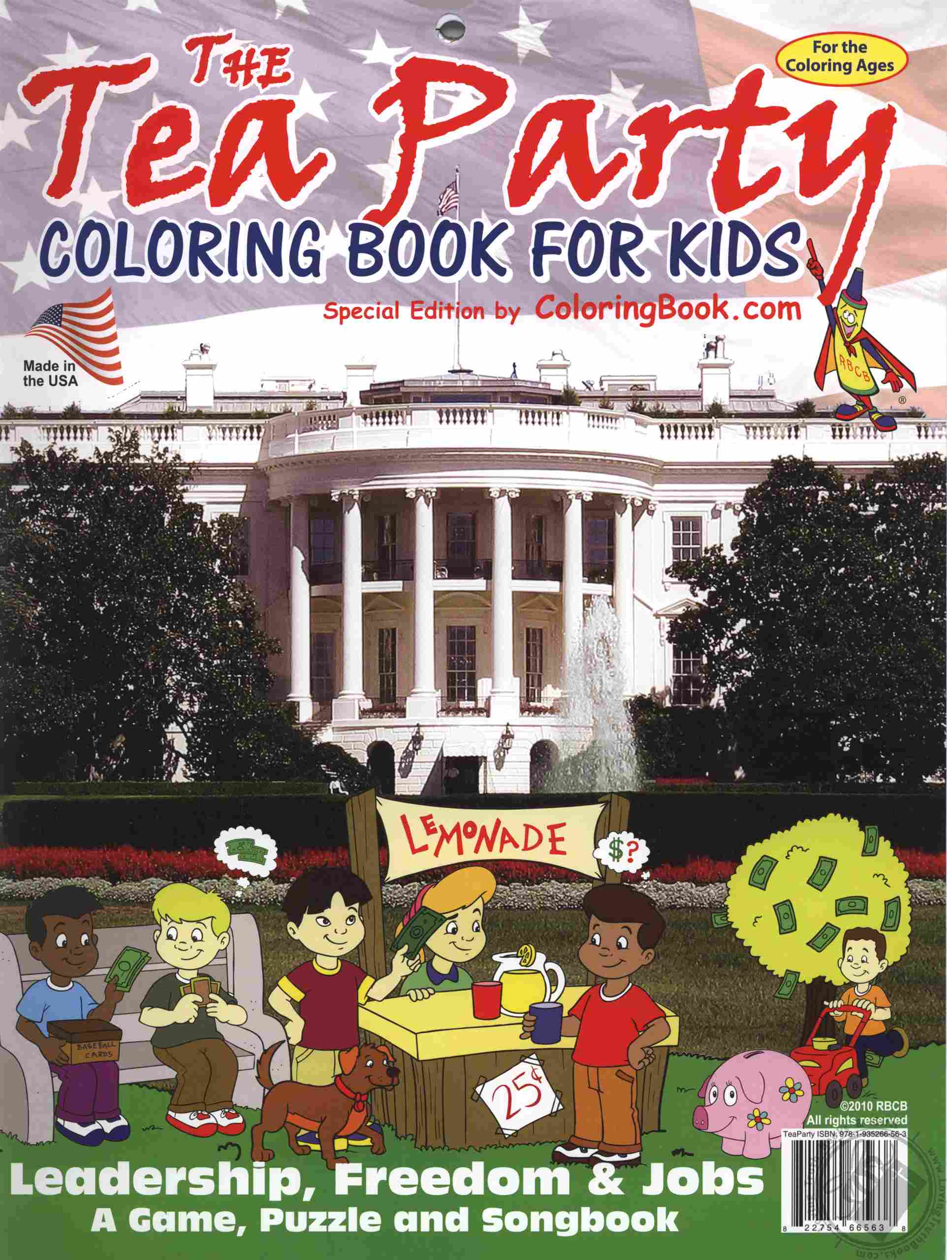Educational Coloring and Activity Book: The TEA Party Coloring Book ...