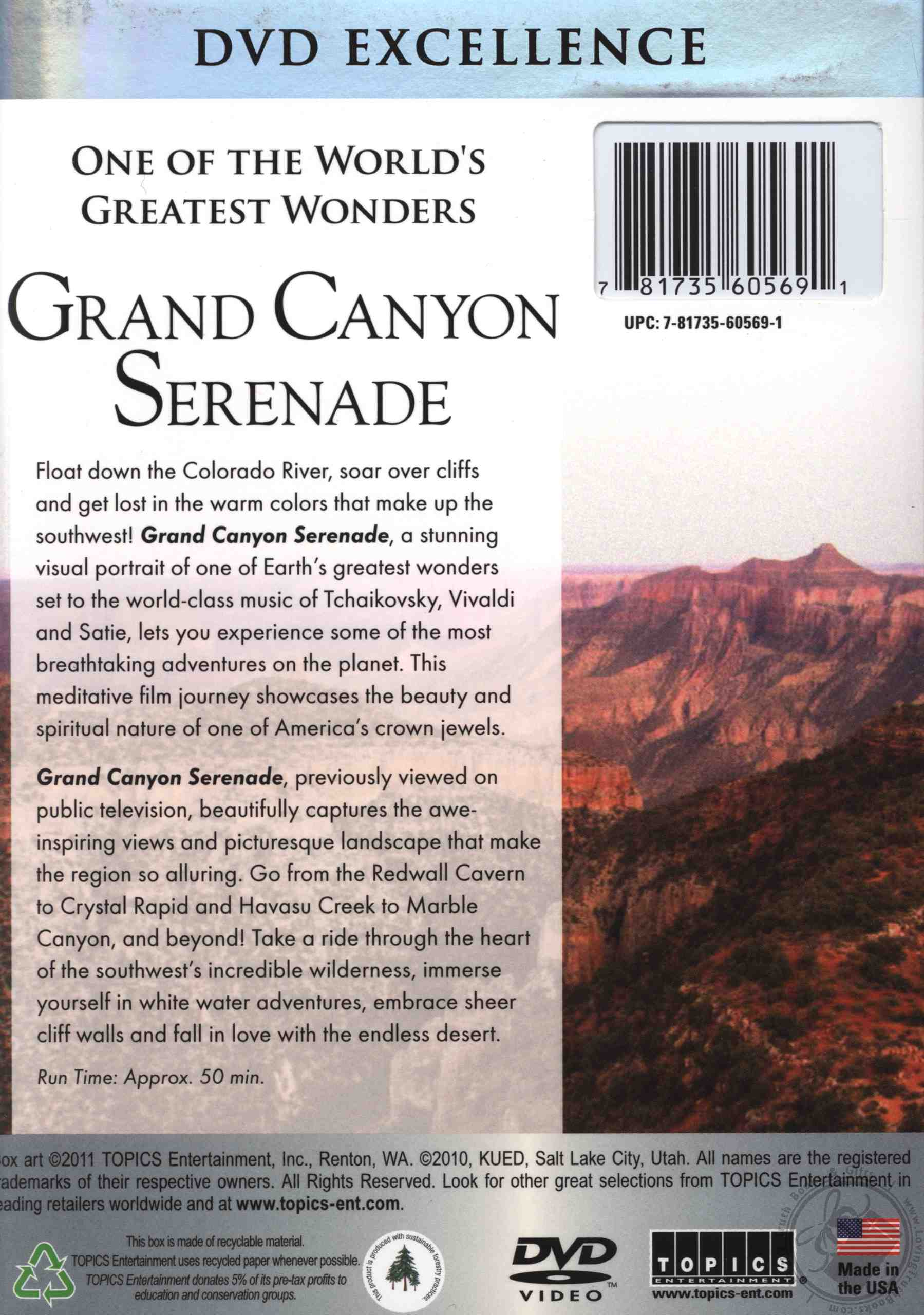 grand canyon serenade a breathtaking tour of one of the. Black Bedroom Furniture Sets. Home Design Ideas