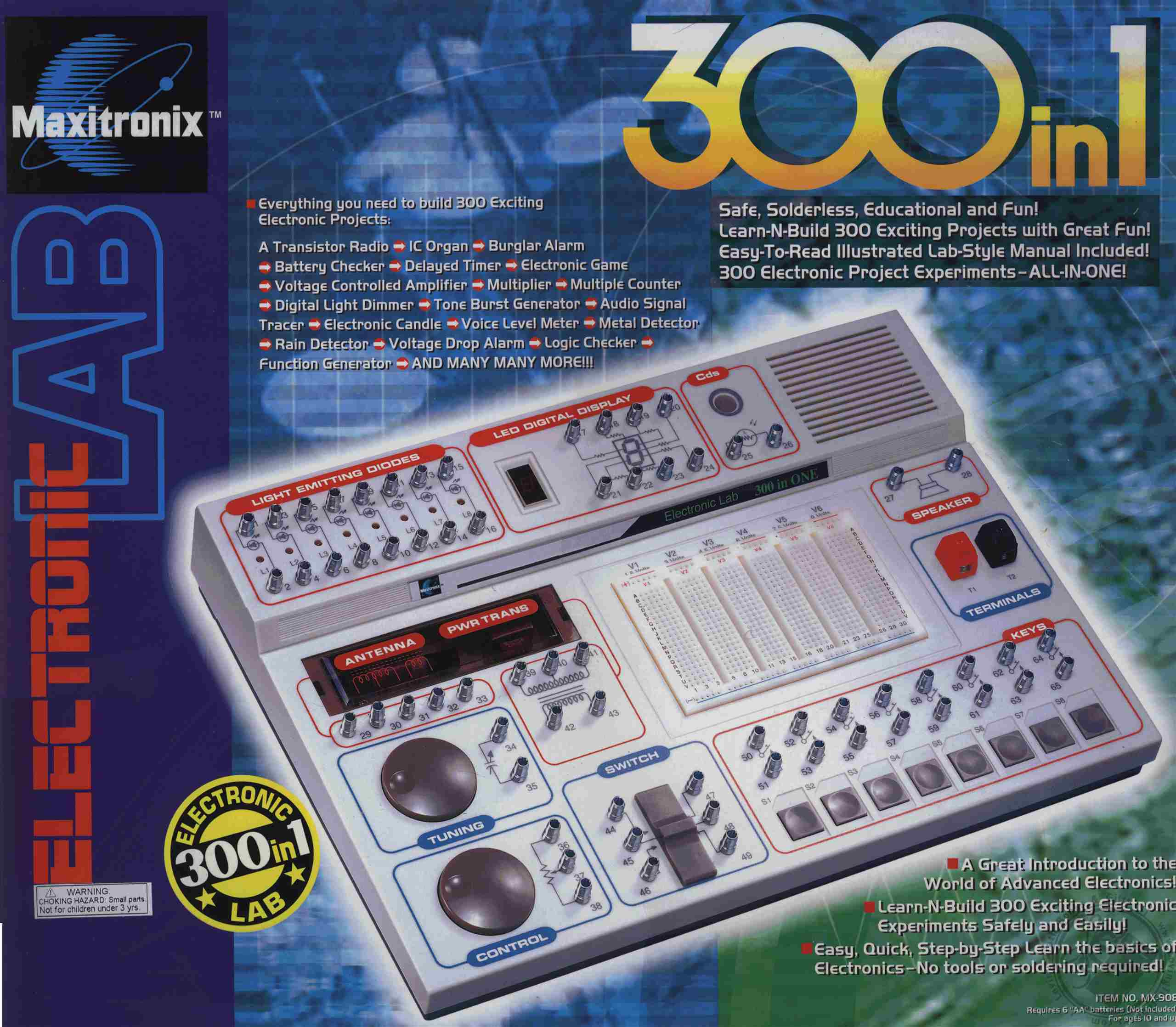 300-In-One Electronic Project Lab (Model MX-908) (Electronic ...
