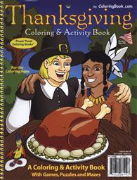 Educational Coloring and Activity Book: Thanksgiving,Really Big Coloring Books