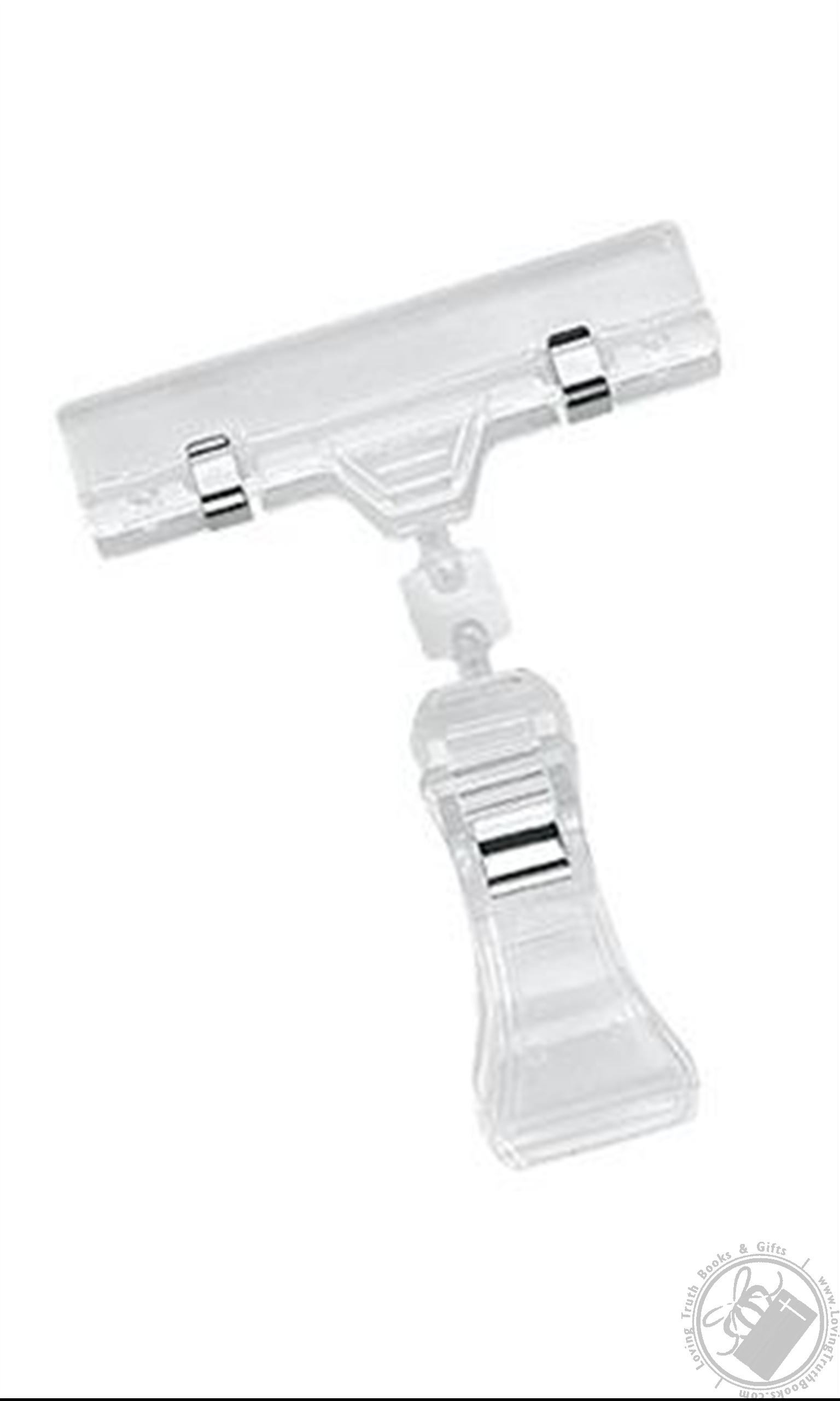 Set 2 Clear Pop Adjustable Clip Sign Holders Retail Sign