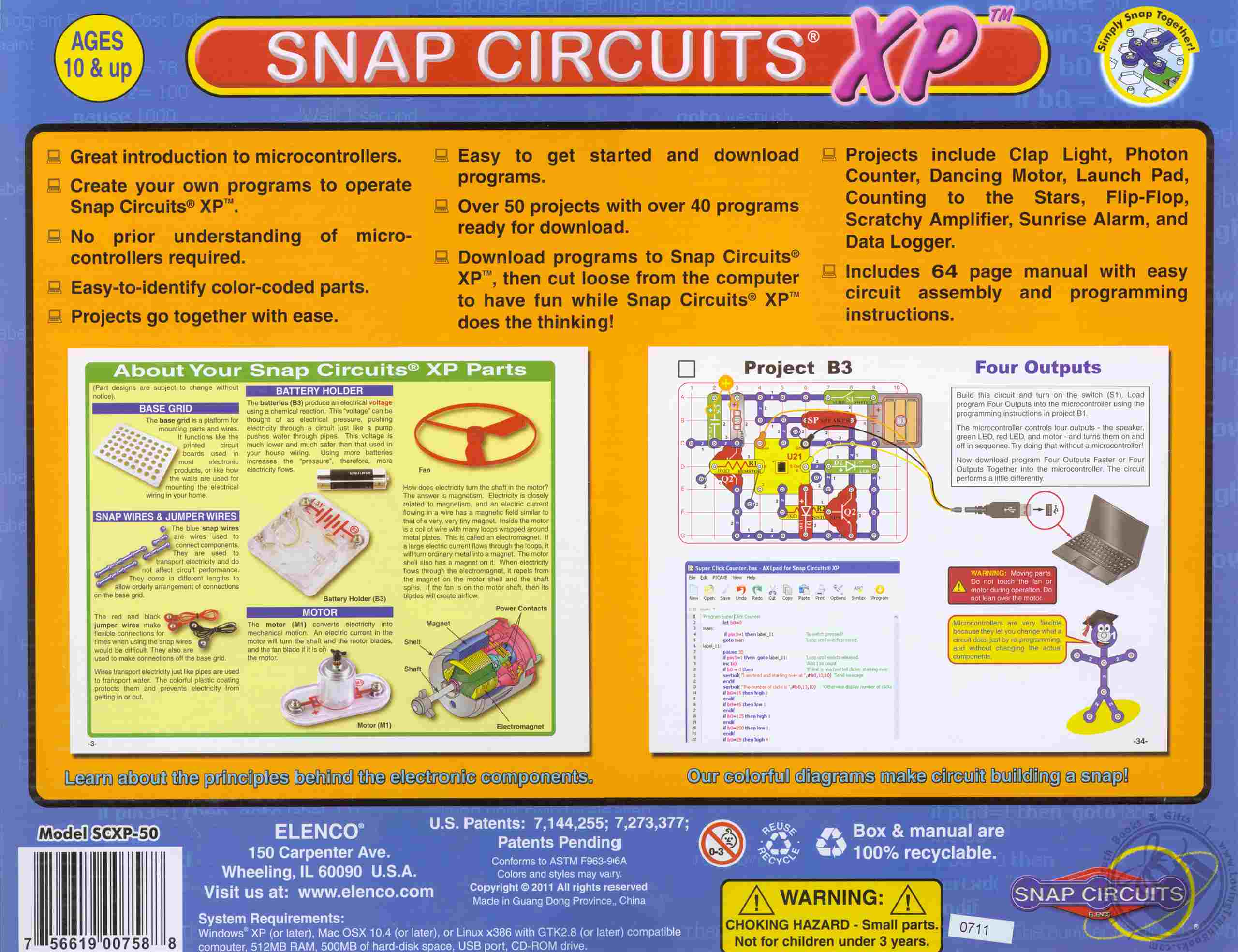 Snap Circuits Xp Build Your Own Micro Computer Electronic Circuit Parts Share With Others