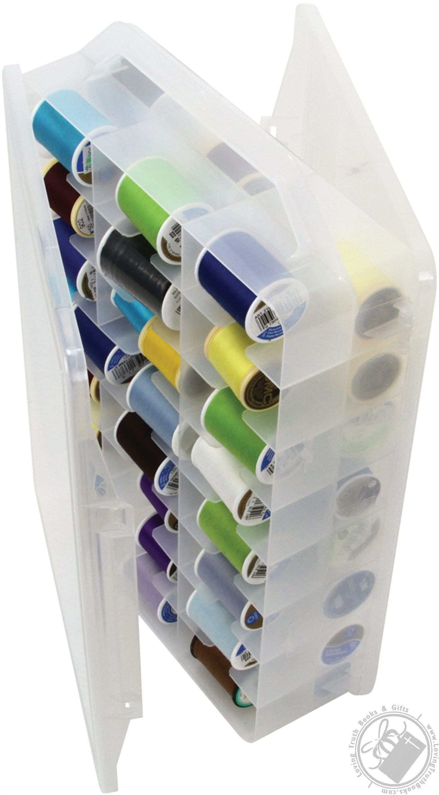 Double Sided Thread Organizer With Handle Thread Storage Box Small