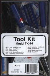 9 Piece Electronic Technician Starter Tool Kit (Model TK-14) (Electronic Experiment Kit - Requires Soldering),Elenco Electronics