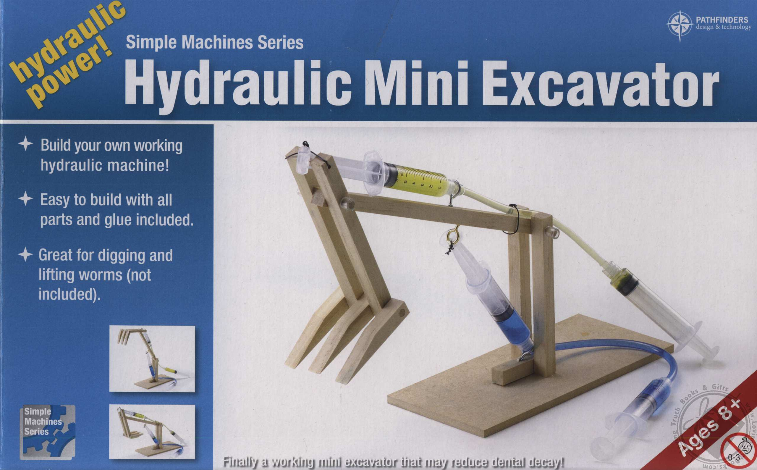 simple machines series wooden hydraulic mini excavator for ages