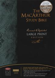NKJV Large Print The MacArthur Study Bible - Revised and Updated (New King James Version),John MacArthur