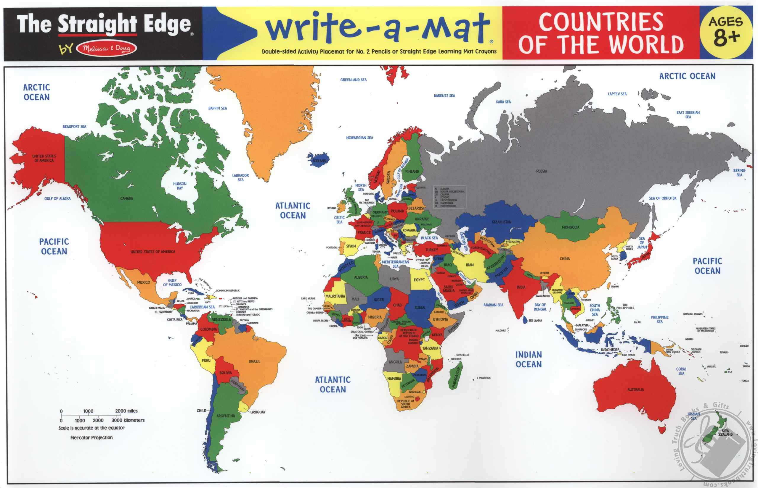 WriteAMat The United States USA Map Learning Mat The Straight - Map of the 50 states abbreviations