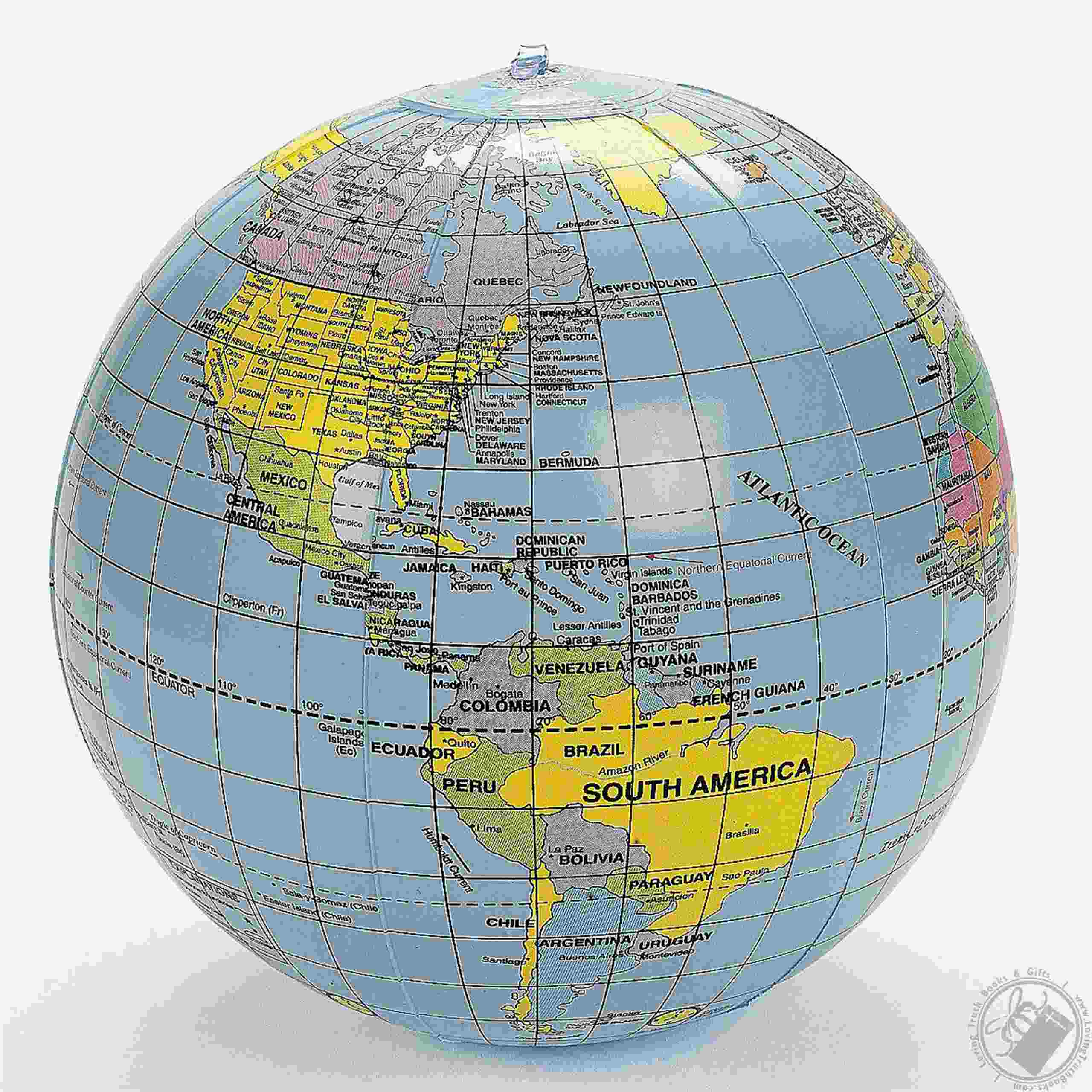 Inflatable world globe political map of the world beach ball by ot share with others gumiabroncs Choice Image