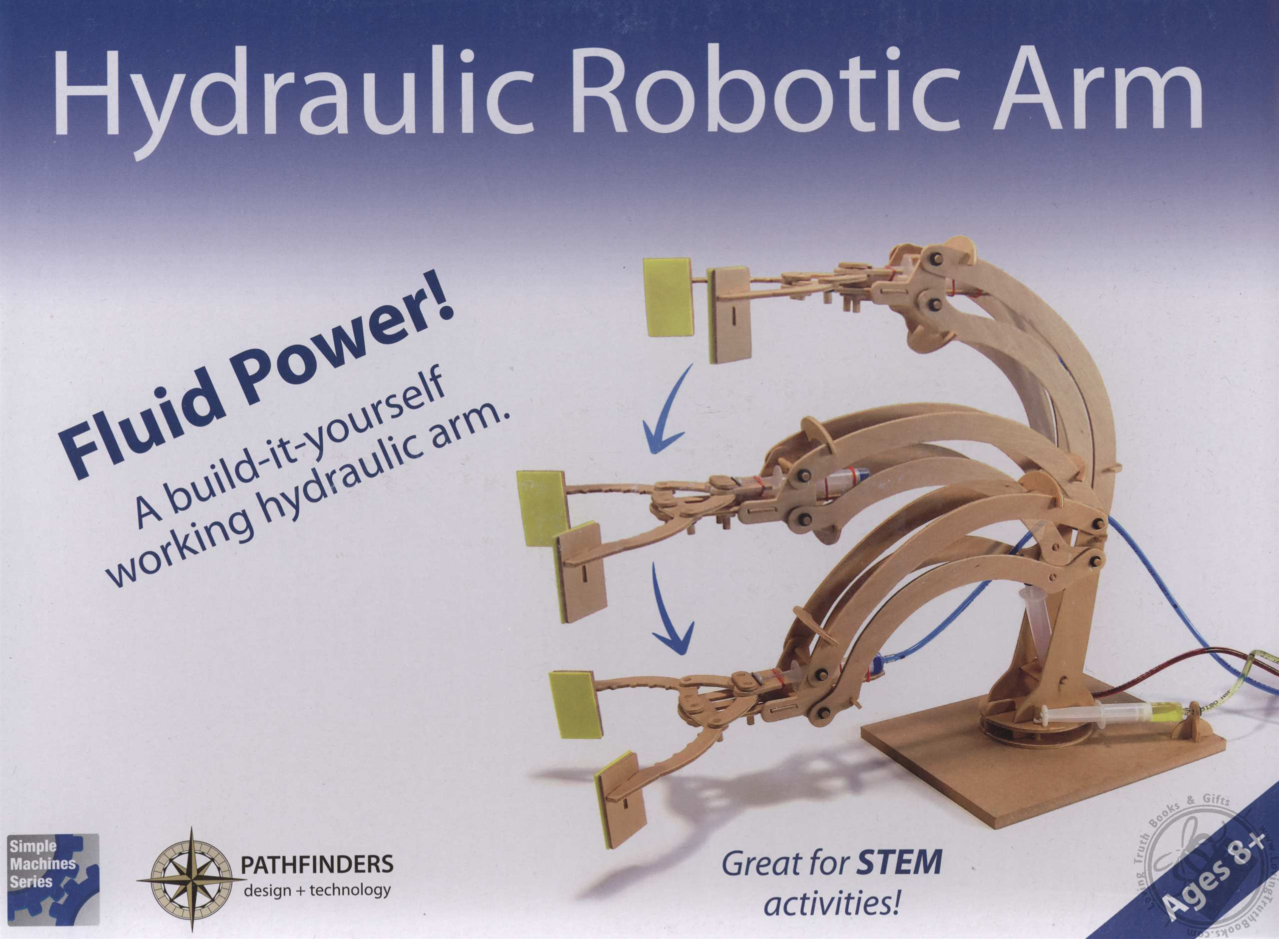 Hydraulic Arm T Bot : Simple machines series wooden hydraulic robotic arm for