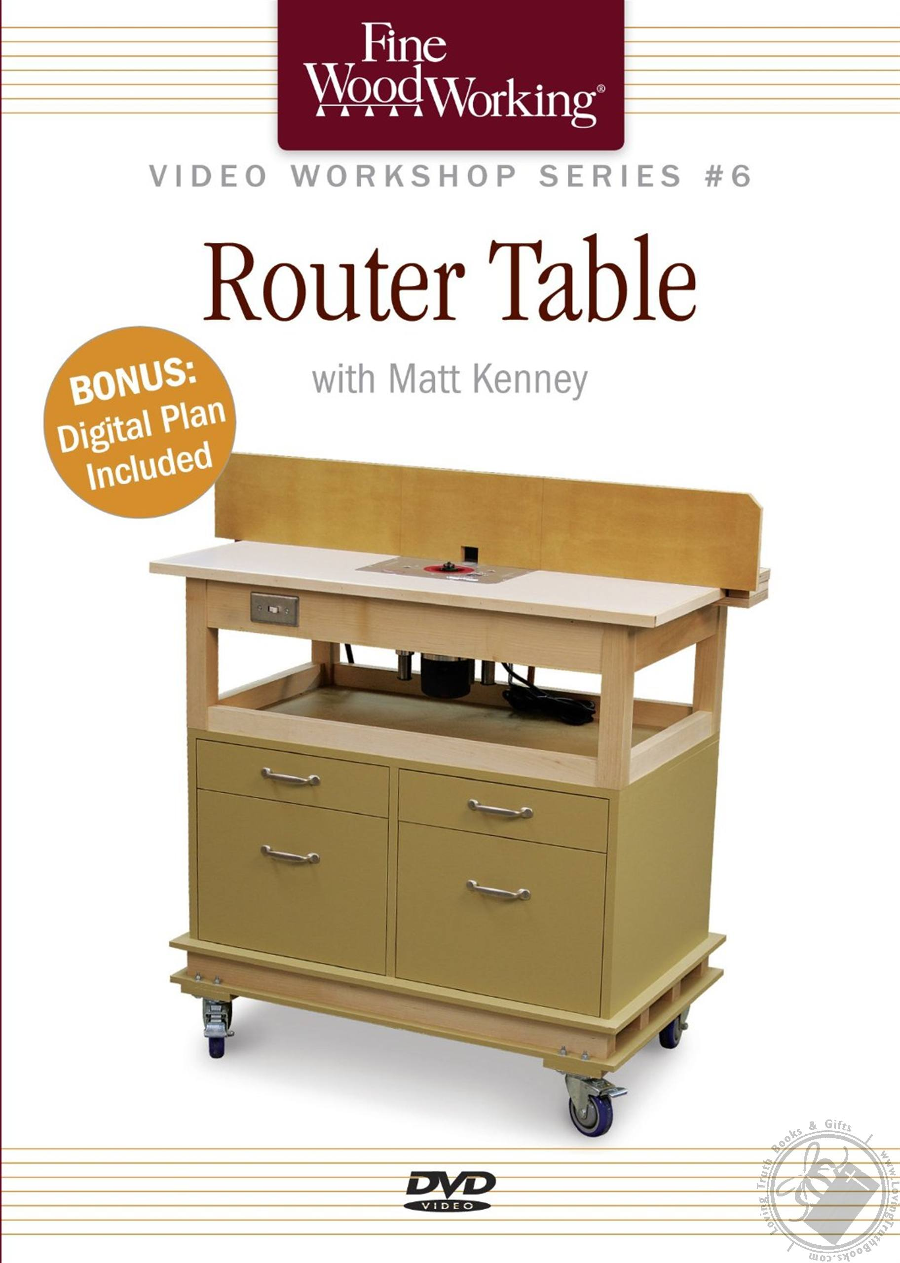 Router Table With Matt Kenney Includes Digital Plan A Fine Woodworking Dvd Workshop By Matt Kenney Dvd Spoken Word Loving Truth Books Gifts