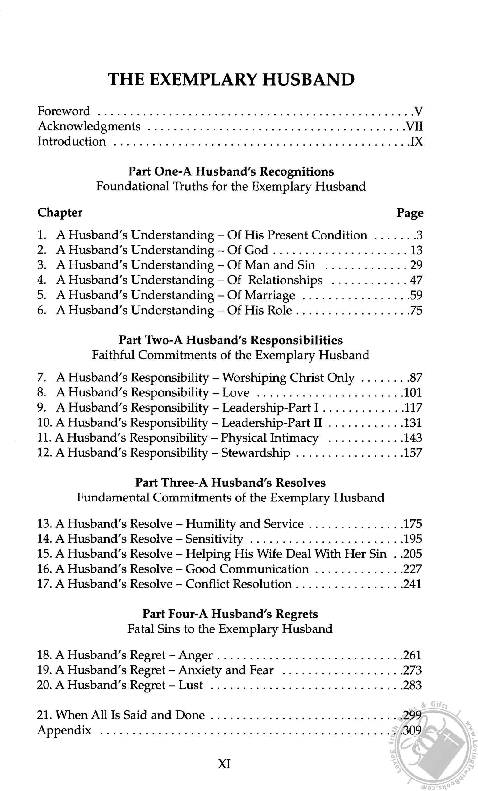 the exemplary husband a biblical perspective by stuart scott book rh lovingtruthbooks com The Excellent Husband The Stuart Scott Exemplary Husband